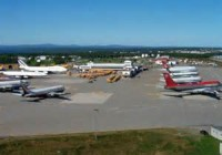 Gander airport with 50+ planes