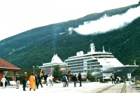 Our cruise ship in Norway